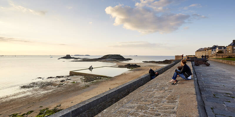 Bastion de la Hollande sur les remparts de Saint-Malo